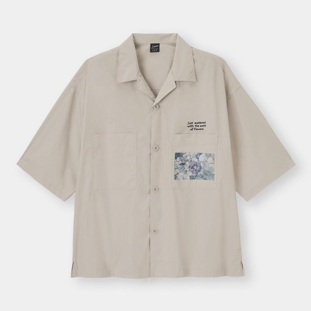 オープンカラーシャツ1